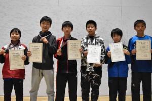 男子U13入賞者