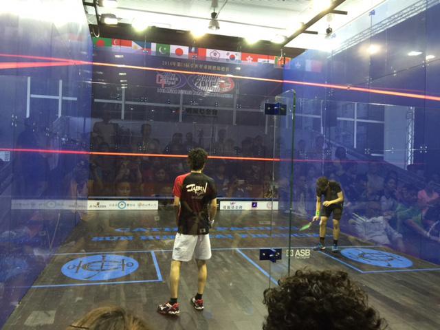 写真は 第18回アジア選手権台湾 机龍之介 vs Max Lee (香港)